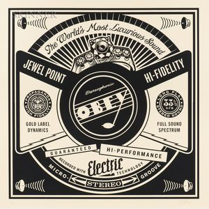 Shepard Fairey (American, b. 1970)      Luxurious Sounds