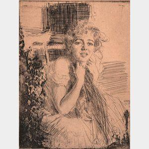 Anders Zorn (Swedish, 1860-1920)      Emma Rasmussen