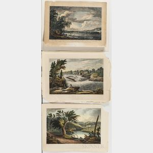 Five Unframed Hudson River Lithographs