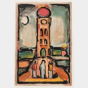 Georges Rouault (French, 1871-1958)      Paysage à la tour