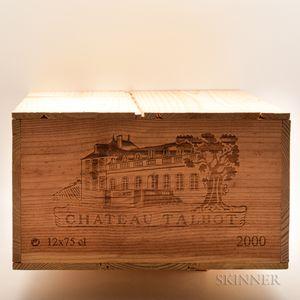 Chateau Talbot 2000, 12 bottles (owc)