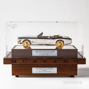 25th Anniversary 1/8 Scale Model of a 1965 Ford Mustang