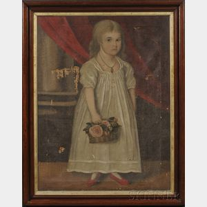 American School, 19th Century      Portrait of Lavinia Fanning Age Seven Years.