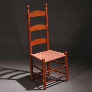 Shaker Red-stained Tilter Chair
