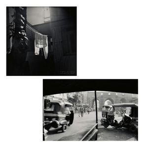 Annu Palakunnathu Matthew (English/American, b. 1964)      Two Photographs: Lit Pyjamas