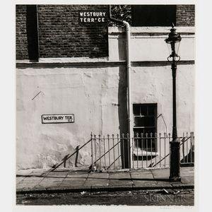Walker Evans (American, 1903-1975)       Westbury Terrace, London