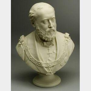 Copeland Parian Bust of Edward VII