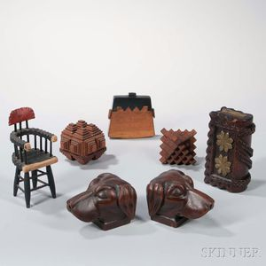 Seven Small Folk Art Items