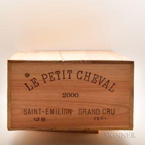 Chateau Le Petit Cheval 2000, 12 bottles (owc)