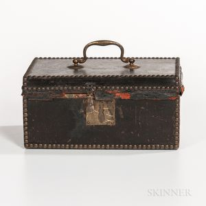 Small Leather-covered Document Box