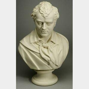 Robinson & Leadbeater Parian Bust of Byron