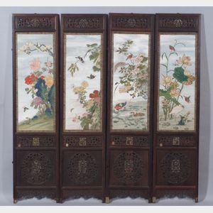 Sold for: $226,000 - Eight-Panel Screen
