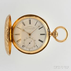 Antique 18kt Gold Hunter Case Pocket Watch