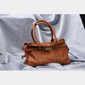 Brown Leather Bag, Burberry
