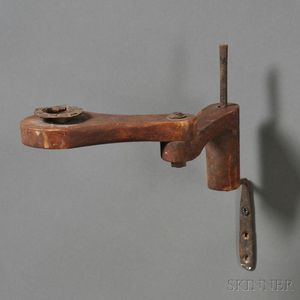 Wood and Iron Wall-mounted Extension Candle Holder