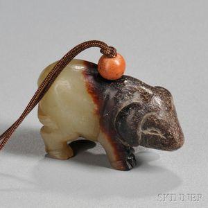 Archaic-style Jade Pig