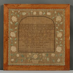 "Needlework Sampler ""Harriet Smith,"""