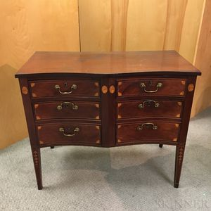 Federal-style Inlaid Mahogany Serpentine-front Server