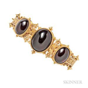 Victorian Gold and Garnet Bracelet