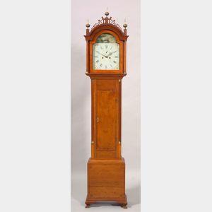 Cherry Inlaid Tall Case Clock