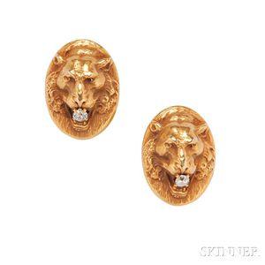 14kt Gold Cuff Links, Krementz