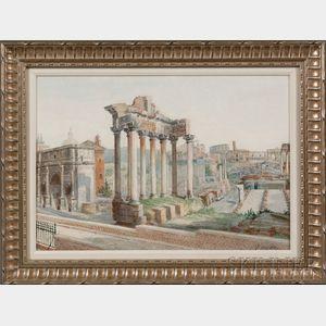 John Martin (British, 1789-1854)      Roman Forum