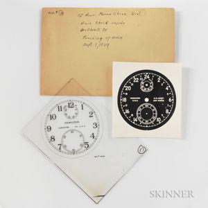 Hamilton Factory Glass Twelve-hour Marine Chronometer Dial Plate