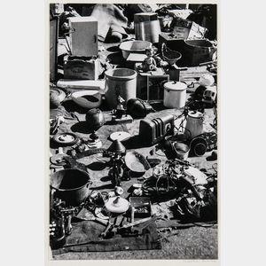 Walker Evans (American, 1903-1975)       Flea Market Offerings, Possibly New York City