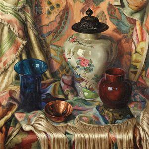 Frank Cohen Kirk  (American, 1889-1963)      Still Life with Jar