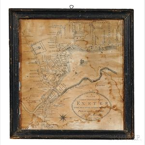 """A Plan of the Compact Part of the Town of Exeter, at the head of the southerly branch of the Piscataqua River,"""