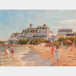 Brian Becken (American, b. 1949)    Beach Scene