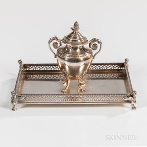 French .950 Silver Inkwell
