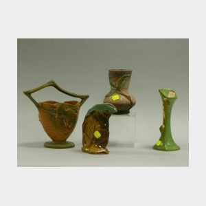 Four Pieces of Assorted American Art Pottery