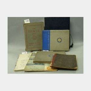 Five Women's School Yearbooks and a 1948 Katherine Gibbs School Business Form   Project