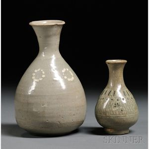 Two Celadon Bottles