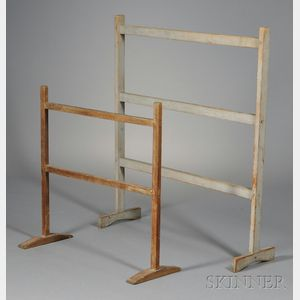 Two Trestle-foot Drying Racks