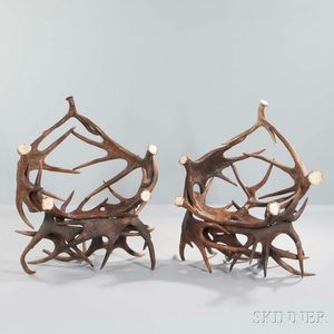 Two Antler Chairs