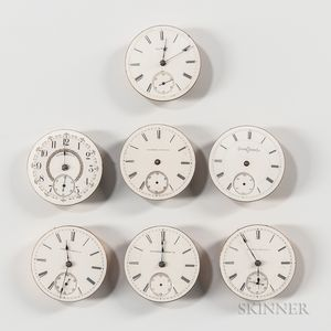 """Seven Model """"1"""" 18 Size Illinois Movements and Dials"""