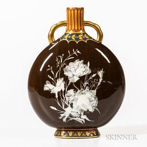 Mintons Pate-sur-Pate Pilgrim Flask