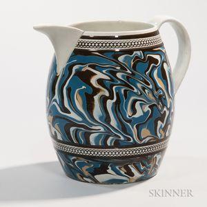 Slip-marbled Pearlware Jug