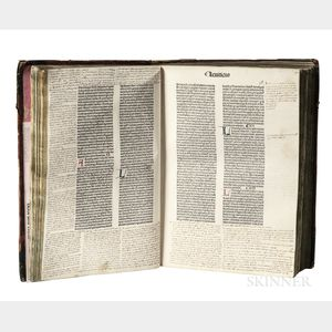 Biblia Latina with Extensive Contemporary Marginalia.