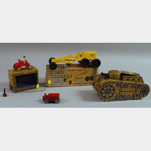 Four Tin Toy Vehicles