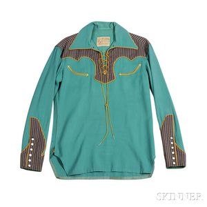 Green Lace-up Nudie Shirt