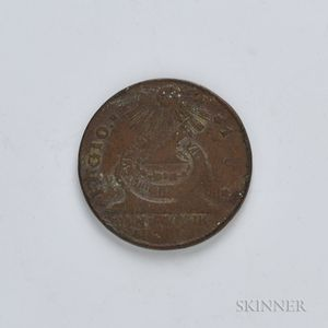 1787 Fugio Cent with Cinqefoils