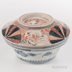 Large Imari Bowl and Cover