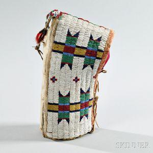Lakota Beaded Hide Toy Cradle
