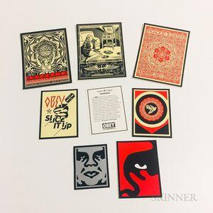 Seven Shepard Fairey Miniature Poster Stickers