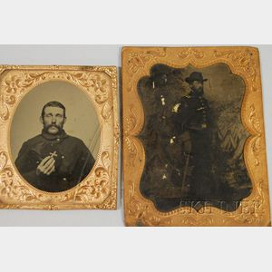 Two Civil War Tintypes