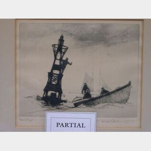 Lot of Two Framed Gordon Grant Nautical Prints.