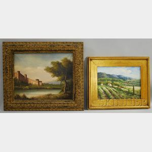 Continental School, 20th Century      Lot of Two Country Landscapes.
